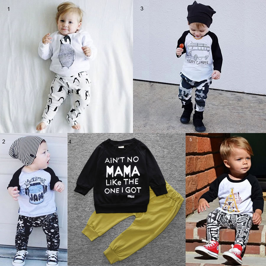 Christmas New Year My First 1st Birthday Outfit Set For Baby Boy Girl Clothes China Newborn Kid Penguin Sport T Shirt Pant Suit In Clothing Sets From