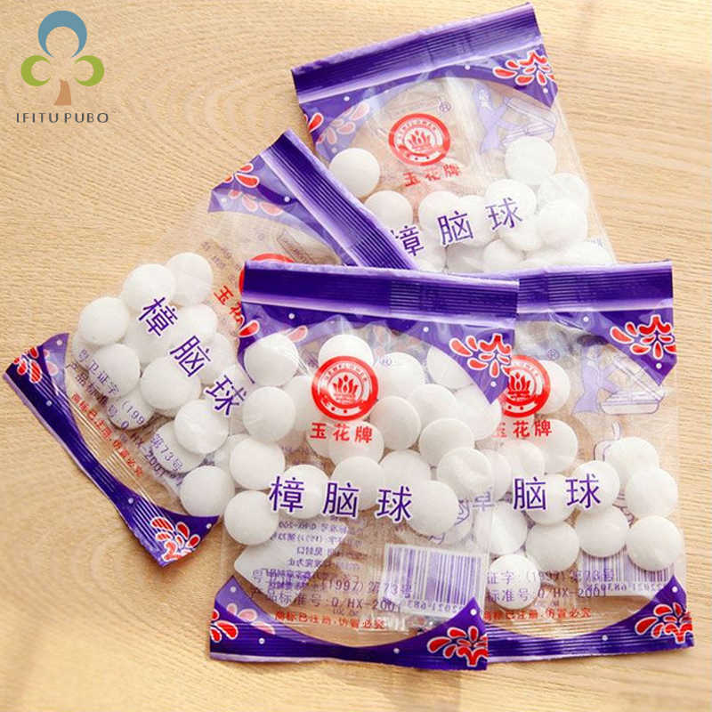 3 Bags=60Piece Natural Mothballs Mouldproof  Camphor Ball Wardrobe Shoe Odor Removal insect-resistant moth-proofing LYQ