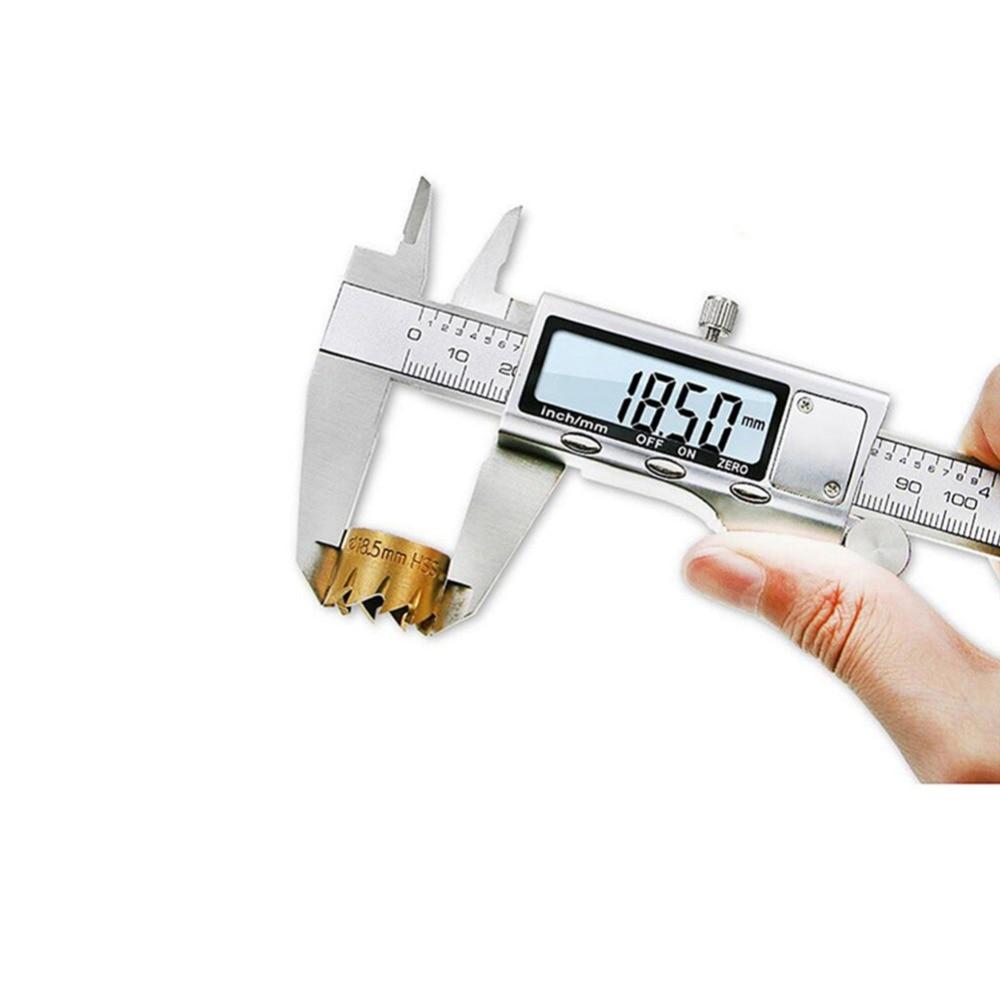 150mm Stainless Steel LCD Digital Electronic Vernier Caliper Gauge Micrometer Ruler Depth Measuring Tools Switchable Metric