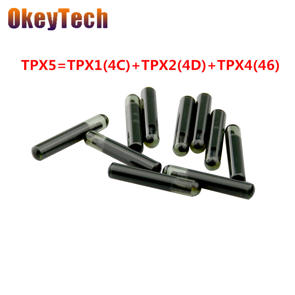OkeyTech 5pcs lot Car Key Chip TPX5 For JMA 3 in 1 Carbon Ceramic Transponder Chip