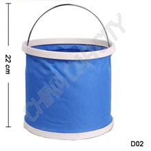9L outdoor Army training camp Travel Waterproof Oxford Camping Folding Bucket Car Folding Bucket Fishing Collapsable Bucket D02
