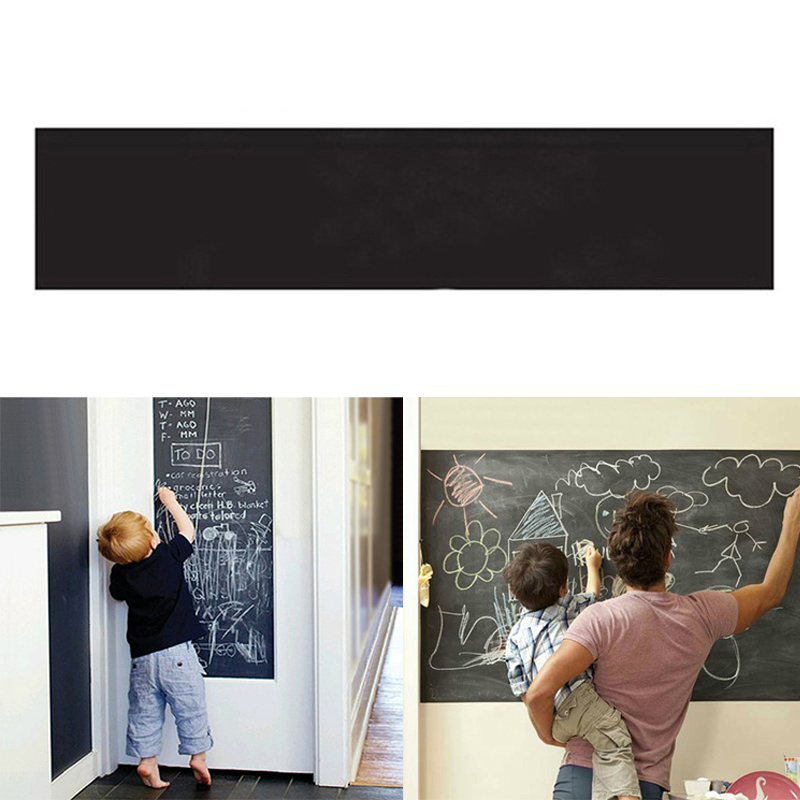 1pcs wall sticker creative chalkboard sticker removable the avengers wall decals removable cartoon wall stickers