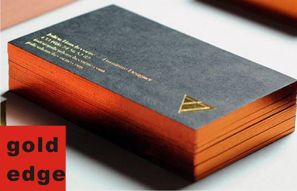 700gsm gold edge gold foil printing card custom