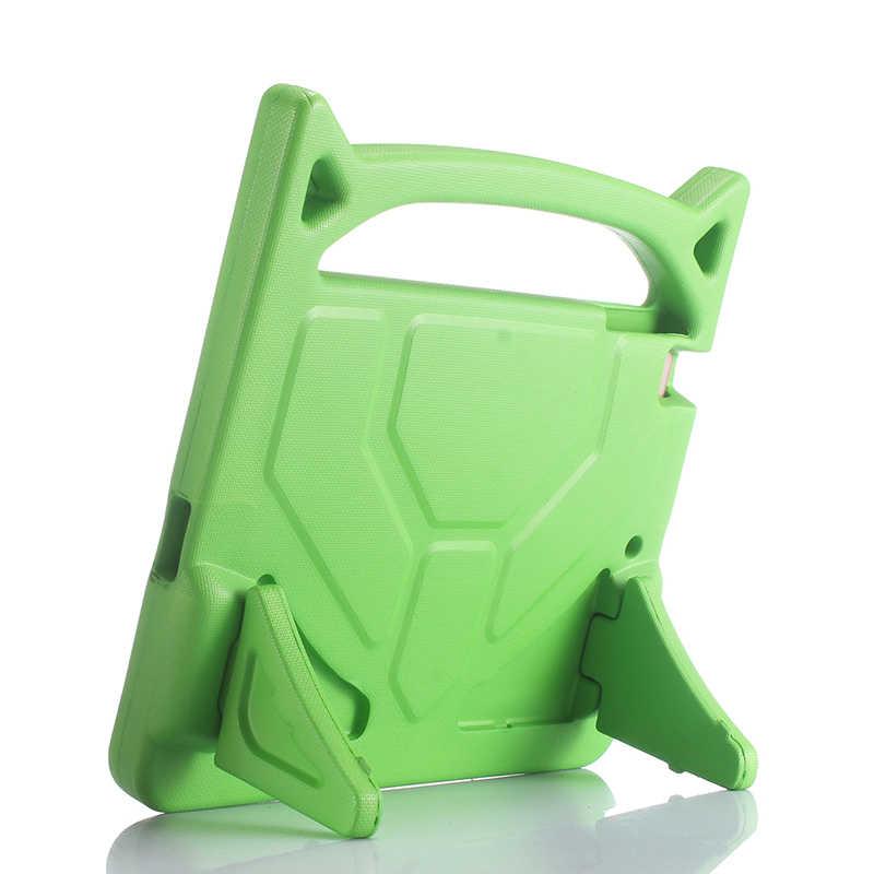 الاطفال للصدمات آمنة غطاء لباد 2018 2017 الهواء 1/2 إيفا 3D لينة حامل مزود بمقبض لينة اللوحي حافظة لجهاز iPad 5/6 برو 9.7 بوصة + القلم