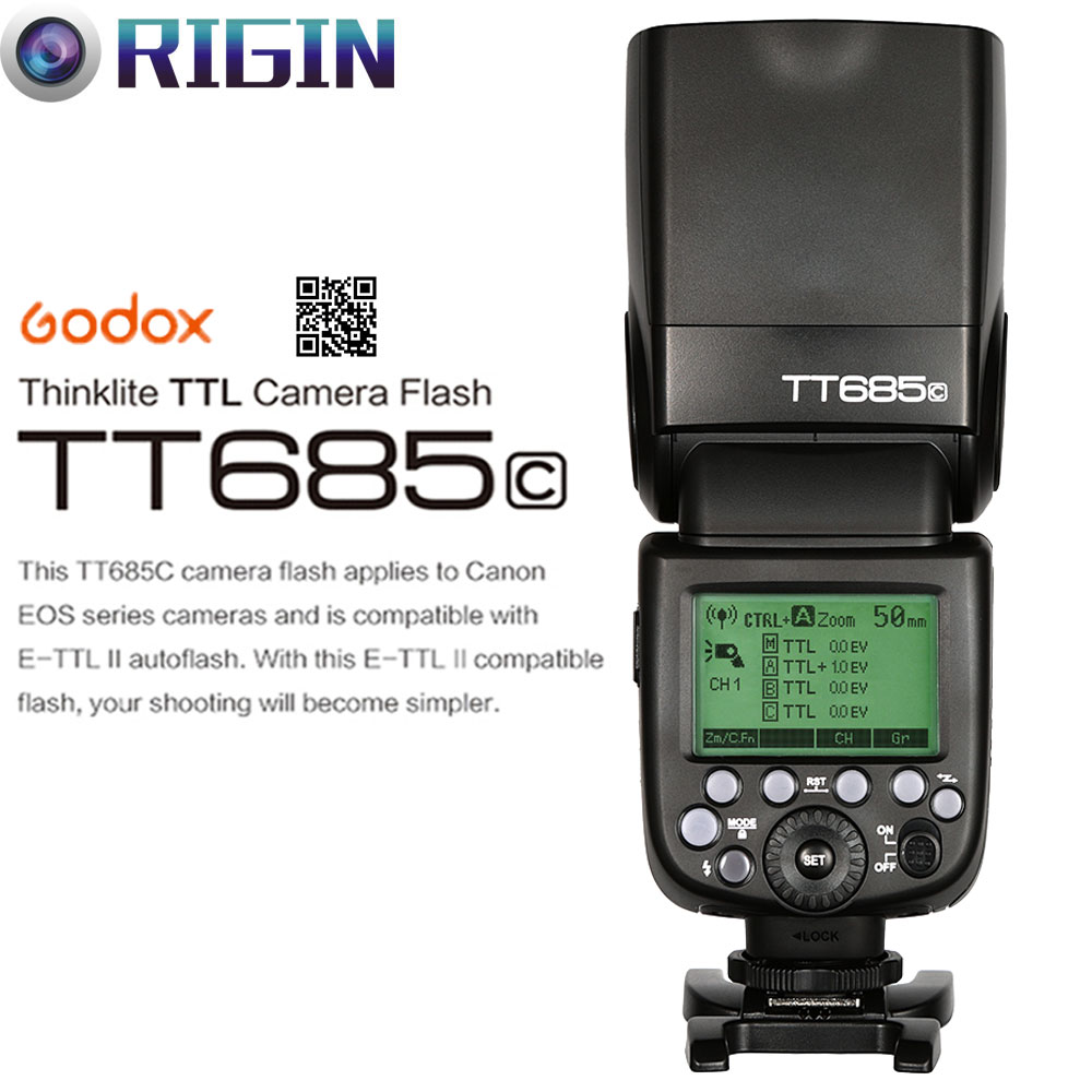 Godox TT685C Camera Flash 2.4GHz Wireless Transmission+E-TTL II - Camera and Photo