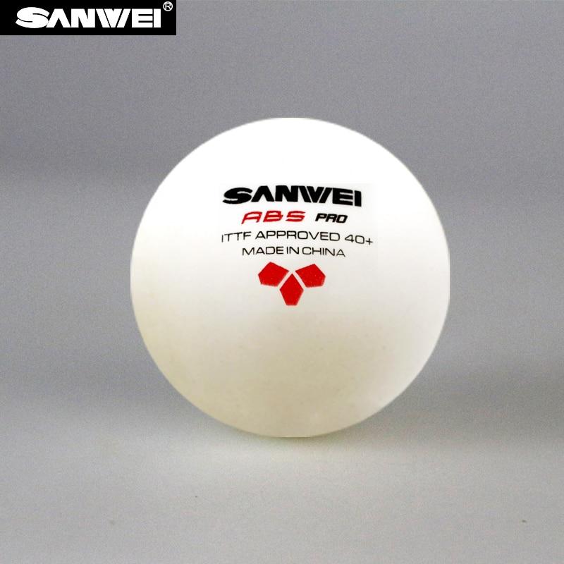 SANWEI 3-Star ABS 40 + PRO (2018 Новый) настольный теннис мяч ITTF утвержден новый Материал Пластик поли для пинг-понга оптовая продажа