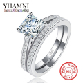 Big Hot Sale Fashion Rings for Women Have S925 Stamp Real 925 Sterling Silver 1.5 Carat CZ Diamond Wedding Ring Wholesale YR022