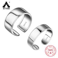 Big Classic 925 Sterling Silver Adjustable Wide Ring Finger for Women Ring Band Bijoux Jewelry цена в Москве и Питере