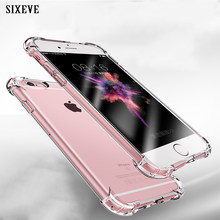 SIXEVE Super Shockproof Clear Soft Case for iPhone 6 s 6S 7 8 Plus 7Plus 8Plus X XS Max XR Silicone Luxury cell Phone Back Cover(China)