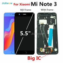 For xiaomi mi note 3 lcd Display+Touch Screen Digitizer Assembly with Fingerprint for Xiaomi Note3 LCD display 5.5 inch