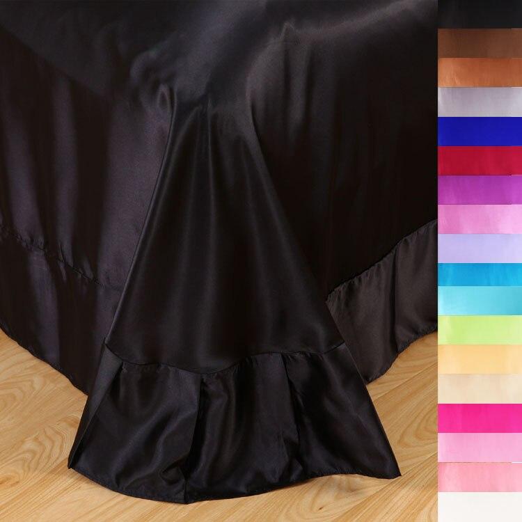 achetez en gros des draps de satin noir en ligne des grossistes des draps de satin noir. Black Bedroom Furniture Sets. Home Design Ideas