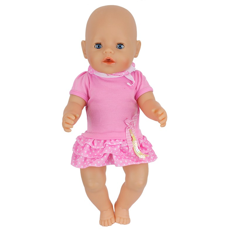 Factory wholesale Doll accessories,Beautiful dress Clothes Wear fit 43cm Baby Born zapf, Children best Birthday Gift ABD-609 2color choose leisure dress doll clothes wear fit 43cm baby born zapf children best birthday gift only sell clothes