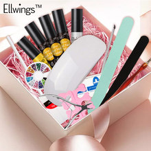 Buy nail design kits and get free shipping on aliexpress ellwings 16pcs nail art gel nail polish set uv gel varnish nail design top base coat prinsesfo Image collections