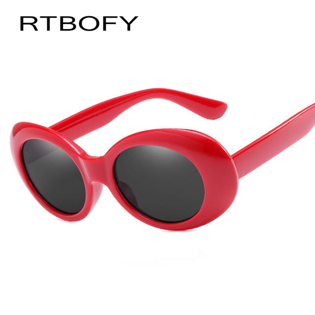 f7eb89c9eb RTBOFY Cool Ladies streetwear sunglasses Red shades sunglasses Oval sunglasses  women Fashion lunette steampunk sun glasses