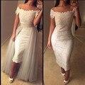 2016 bata blanca sirena vestido de encaje blanco tubo flexible caseros NM478 sexy mujeres del vestido vestido de la madre