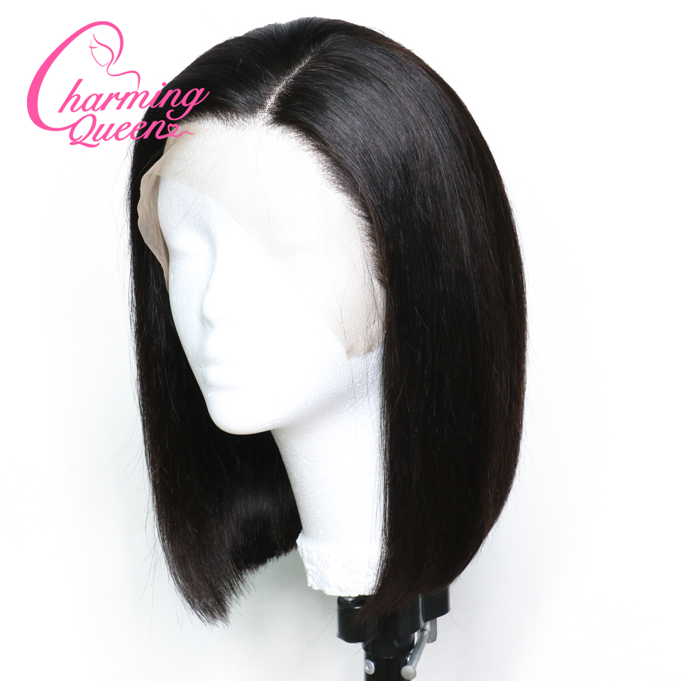 Short Bob Wigs Full Lace Human Hair Wigs For Black Women Pre Plucked Brazilian Virgin Hair