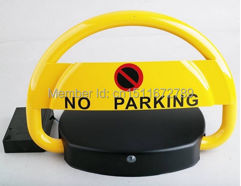 remote control automatic parking barrier with a height of 46cm half ring shape of the block machine parking barrier lock