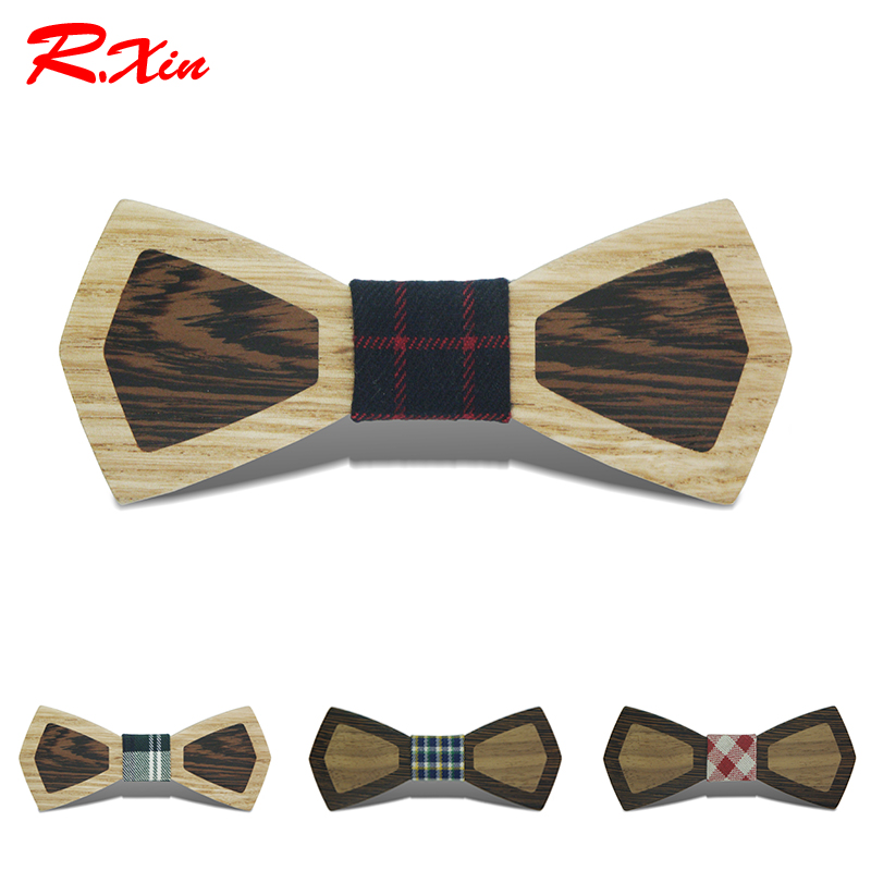 Fashion Party Wooden Bow Tie Adult Individual Patchwork Design Wedding Wood Ties For Men Factory Wholesale Gravata Borboleta
