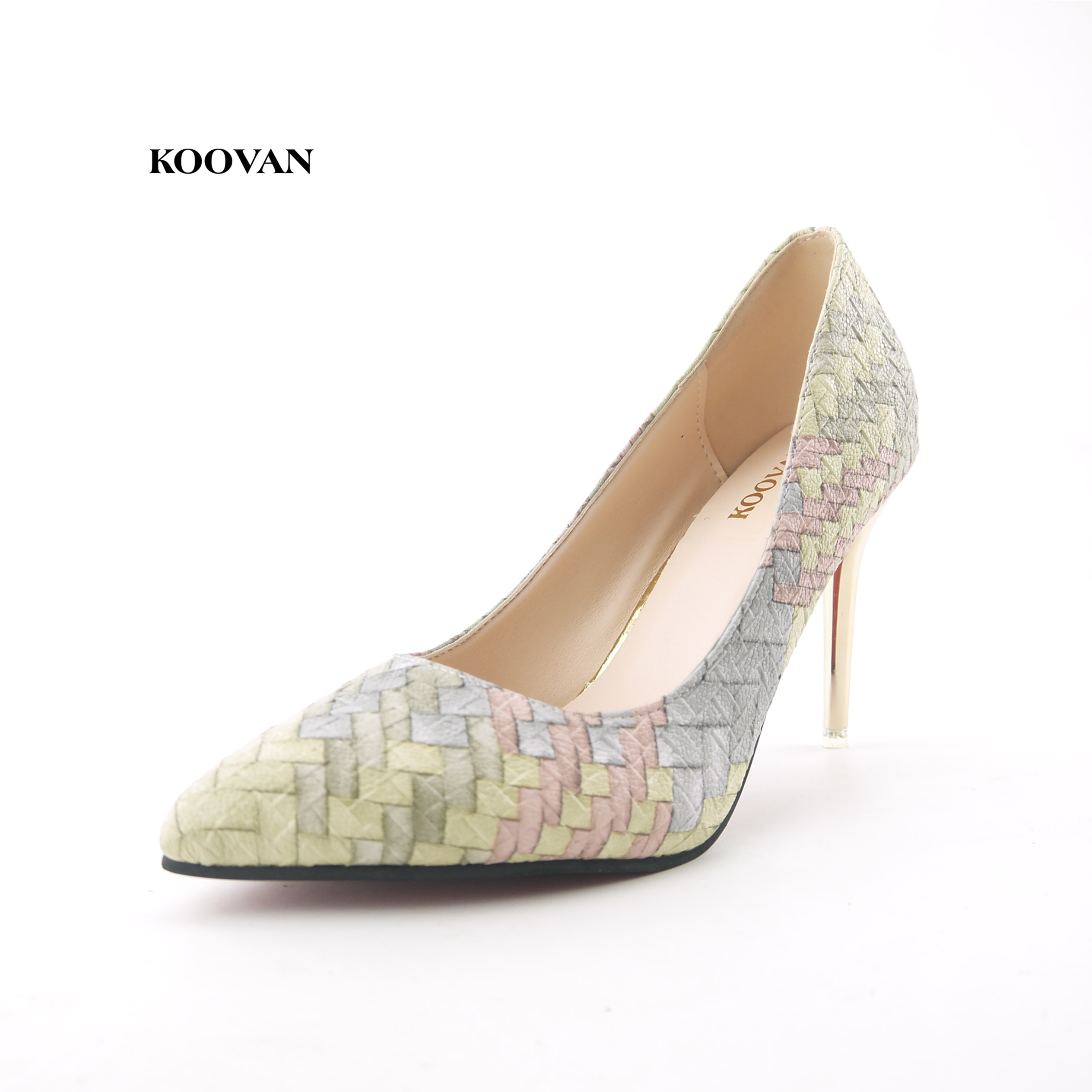 Koovan Women Pumps  2017 Spring Autumn New Fashion Straw Woven Women's Shoes  With High-heeled Nightclub Single Shoes 9cm 2016 spring new fashion women hot sale nightclub sexy fine with platform high heeled shoes ol shoes baok 8e36