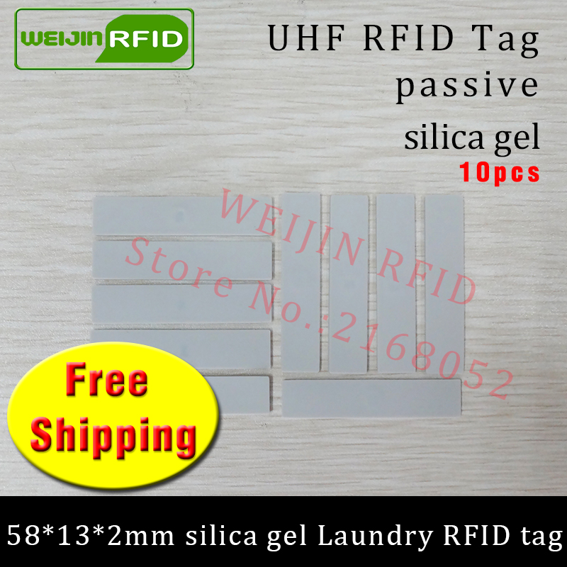 RFID tag UHF laundry high temperature resistance 915m 868m 860-960M H3 EPC 6C 10pcs free shipping smart passive RFID silica gel 100pcs high temperature resistant uhf rfid pps laundry tag small with alien h3 chip used for laundry management