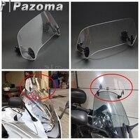 Motorcycle Adjustable Windscreen Spoiler Windshield Air Deflector For Scooter Honda Suzuki BMW F800 R1200GS Yamaha MT 09 FZ 09