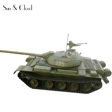 1:35 3D T-54 Tank Soviet Union Russian Paper Model Assemble Hand Work Puzzle Game DIY Kids Toy