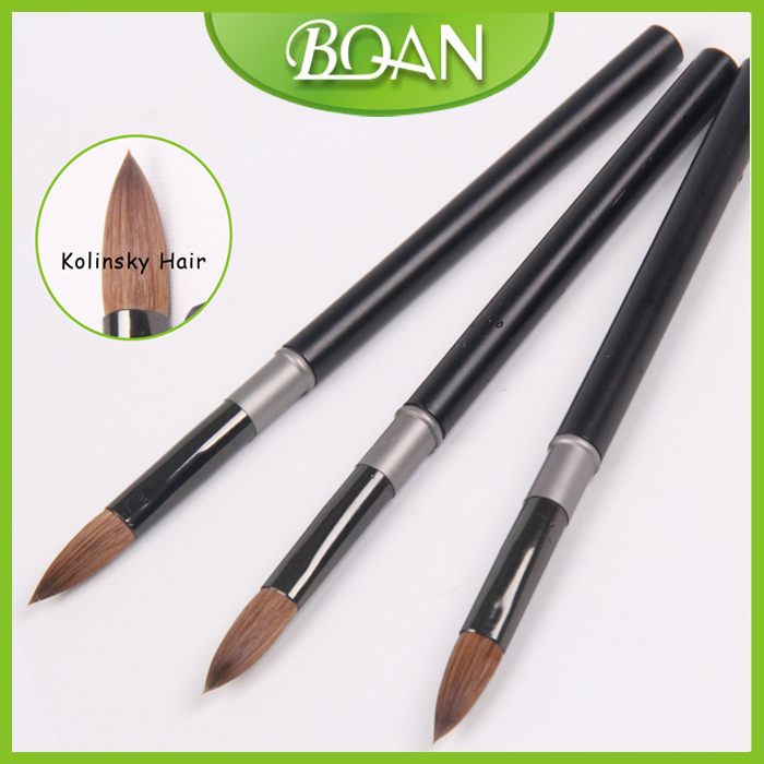 BQAN 10pcs #6#8#10#12#14#16#18 Kolinsky Sable Brush Acrylic Nail Art ...