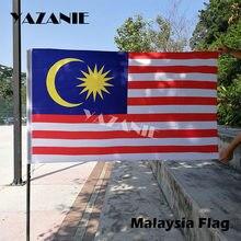 Yazanie 90x150cm malásia bandeira 3ftx5ft pendurado bandeira malaia poliéster bandeira padrão de alta qualidade dupla lateral bandeira nacional