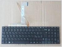 ใหม่อิตาลีแป้นพิมพ์แล็ปท็อปสำหรับSamsung RF712 RF710 RF711 RF730ดำไอทีที่มีแสงไฟไม่มีกรอ