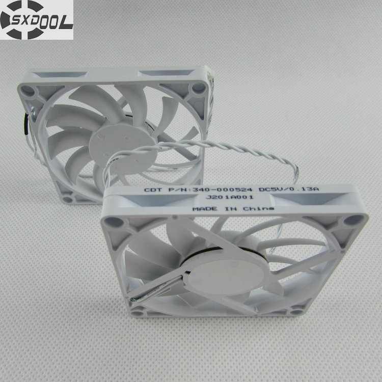 SXDOOL 80*80*10 mm 80mm 8cm DC 5V 0.13A silent quiet axial thickness thin cooling fan new original sanyo 9gl0827p1k04 27v 0 8a 80 80 38mm 8cm device inverter cooling fan 1set 5pcs