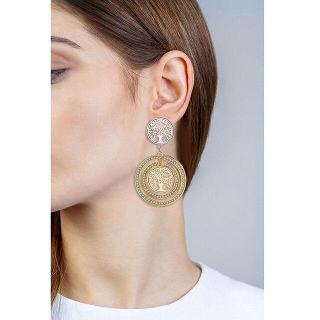 Купить женские серьги подвески с кристаллами chicvie круглые ювелирные картинки