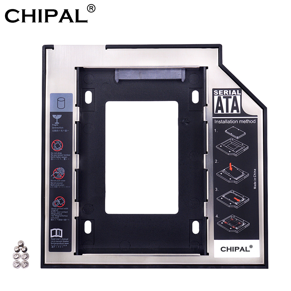 CHIPAL Caddy Enclosure Ssd Case Hard-Disk-Drive Second Hdd Laptop Universal Sata-3.0