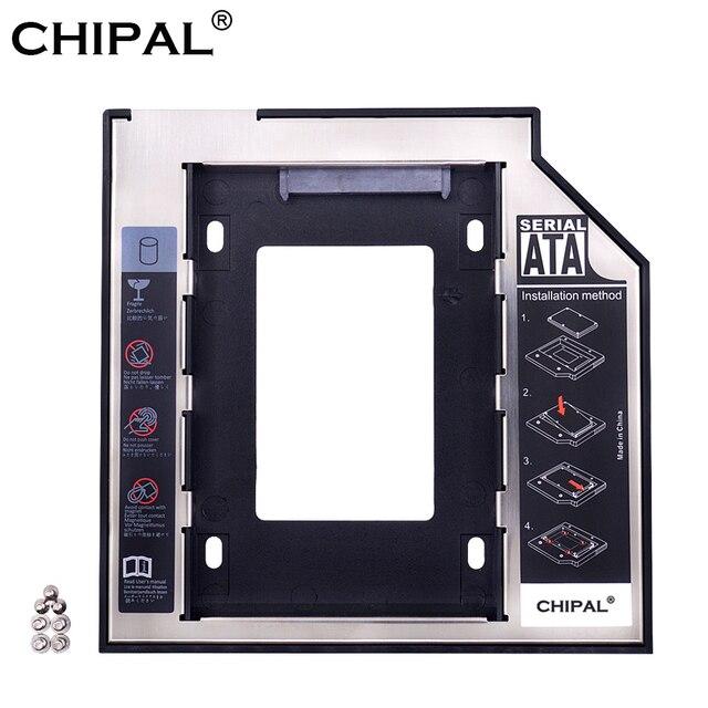 """CHIPAL Universal SATA 3,0 segundo HDD Caddy 9,5mm 9,5 para carcasa de disco duro de 2,5"""" ordenador portátil CD DVD ROM óptico"""