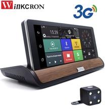 """Winkcron 7 """"Touch 3G Android de Navegación GPS Del Coche dvr cámara de Doble lente de la Cámara de visión Trasera Grabadora Bluetooth AVIN WIFI 16 GB mapa libre"""