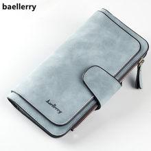 c2c4aba10ac8 Baellerry брендовый кошелек женский Скраб кожаный женский кошелек высокого  качества женский клатч длинный женский кошелек Carteira