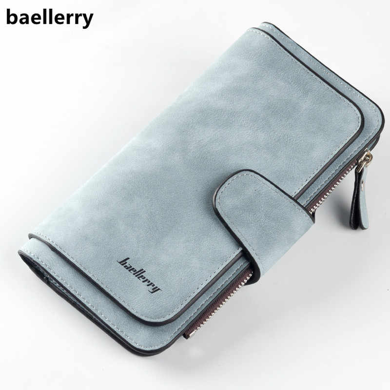 420081f64a6c Baellerry Brand Wallet Women Scrub Leather Lady Purses High Quality Ladies  Clutch Wallet Long Female Wallet