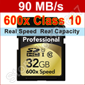 Brand 600x 32 GB SD Card 32gb class 10 Flash Memory Card For Canon Nikon Casio FujiFilm Olympus Panasonic Samsung Digital Camera