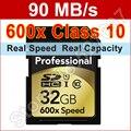 Marca 600x32 GB Tarjeta SD 32 gb clase 10 Memoria Flash tarjeta para canon nikon fujifilm casio olympus panasonic samsung cámara digital