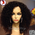 Grade 8A Top Quality Virgin Brazilian Front Lace Wigs / Full Lace Wig Kinky Curly Human Hair for Black Women with baby hair