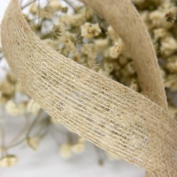 5 m/lote Natural Vintage cinta de arpillera yute DIY correa para bodas Floristry boda fiesta decoración caja decoración de boda artesanal