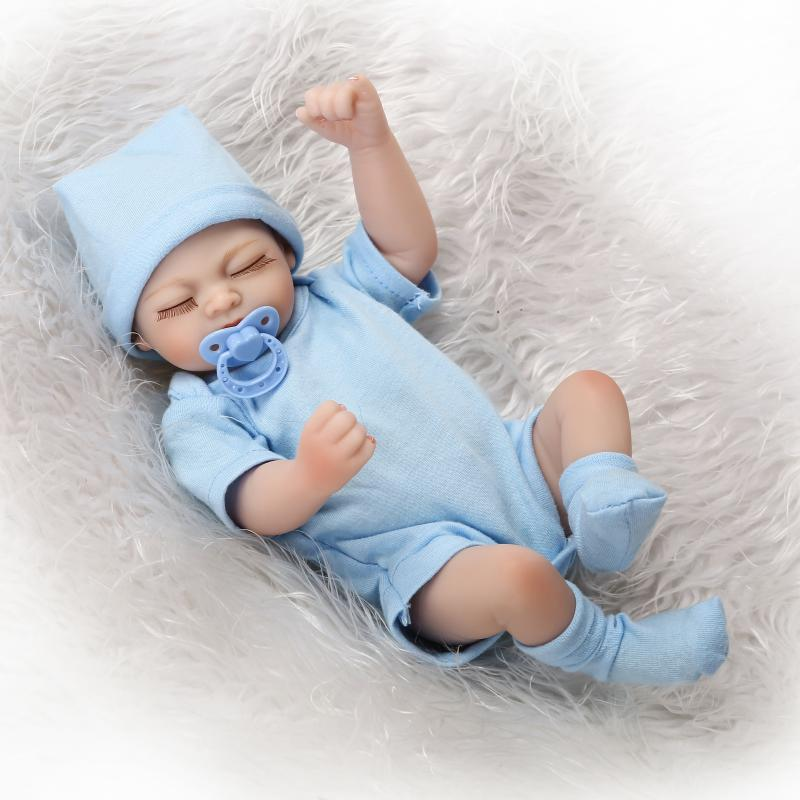 NPKCOLLECTION New design mini reborn all vinyl doll with cute magnet pacifier lovely font b toys