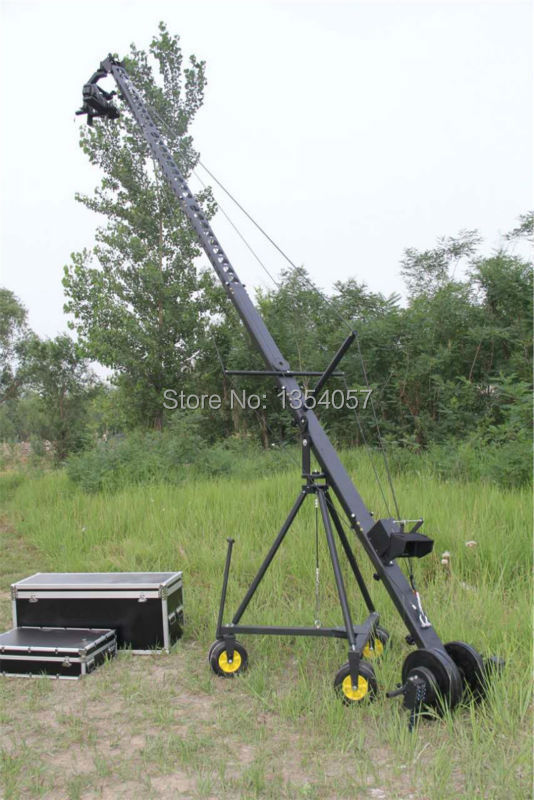 Contrôle DV contrôleur professionnel DV caméra grue Jib 3 m 6 m 8 m triangle pour caméra vidéo filmant avec tête motorisée 2 axes,