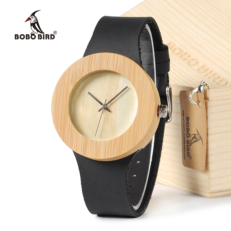 BOBO BIRD Women's Vintage Design Brand Luxury Wooden Bamboo Watches Ladies Watch With Real Leather Quartz Watch in Gift Box bobo bird v o29 top brand luxury women unique watch bamboo wooden fashion quartz watches