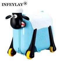 Kreative Reise locker handtasche junge mädchen baby Spielzeug box gepäck koffer zugstange box Kann sitzen fahrt kontrollkästchen kind weihnachtsgeschenk