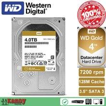 Western Digital WD золото 4 ТБ HDD SATA 3.5 Дискотека Дуро interno внутренний жесткий диск жёсткий диск disque мажор Desktop HDD Сервер