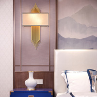 Chinese Modern Style Luxury Gold Wall Lamp Led Wall Lights Decor for Indoor Bedroom Bathroom Home Indoor Lighting Fixture