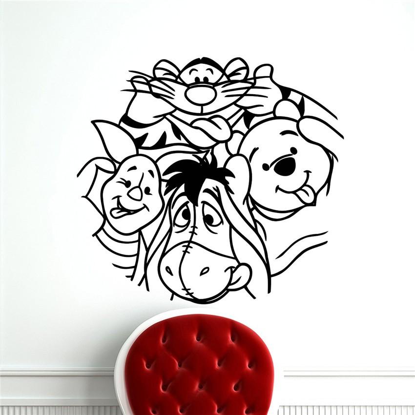US $19.41 25% OFF|Neue ankunft The Pooh Wandtattoo Winnie Pooh Bär Ferkel  Cartoon Vinyl Aufkleber Kinderzimmer Kinderzimmer Dekoration aufkleber-in  ...