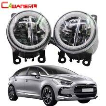 Cawanerl Стайлинг Авто 4000лм светодиодный светильник H11 передний противотуманный светильник+ Ангел глаз дневной ходовой светильник DRL 12 В для Citroen DS5 2012