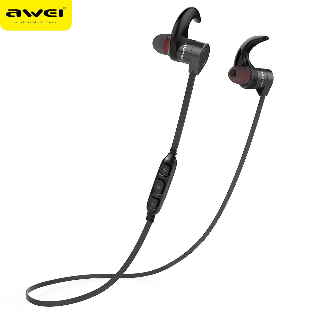 AWEI AK3 Bluetooth Earphone Waterproof Wireless Headset Casque With Microphone Cordless Earphone Earpiece Audifonos Earbuds awei ak3 gold
