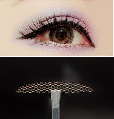 120pcs/5 Packs S Gauze Mesh Lace Stick Stealth Double-fold Eyelid Sticker Without Glue Free Shipping
